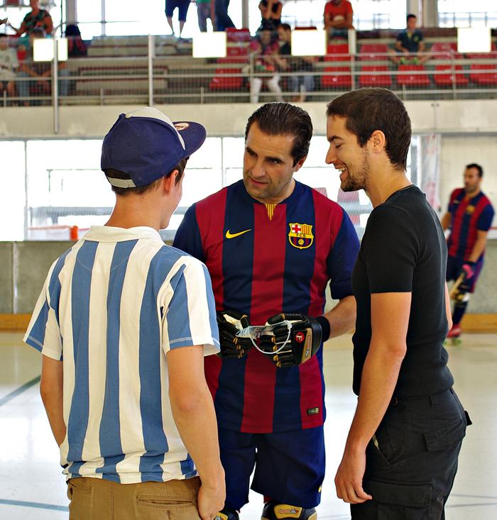 Tobi und Carlos mit Gaby Cairo
